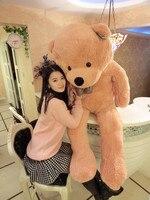 Прекрасный огромный медведь игрушка плюшевая игрушка милый большие глаза лук мягкую игрушку медведя мишки подарок на день рождения светло