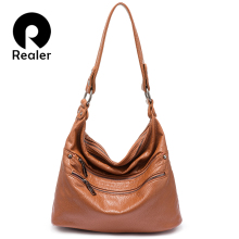 Realer shoulder bag women top-handle handbag female artifici