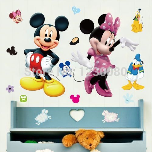 Cartoon Mickey Minnie Wall Area 2