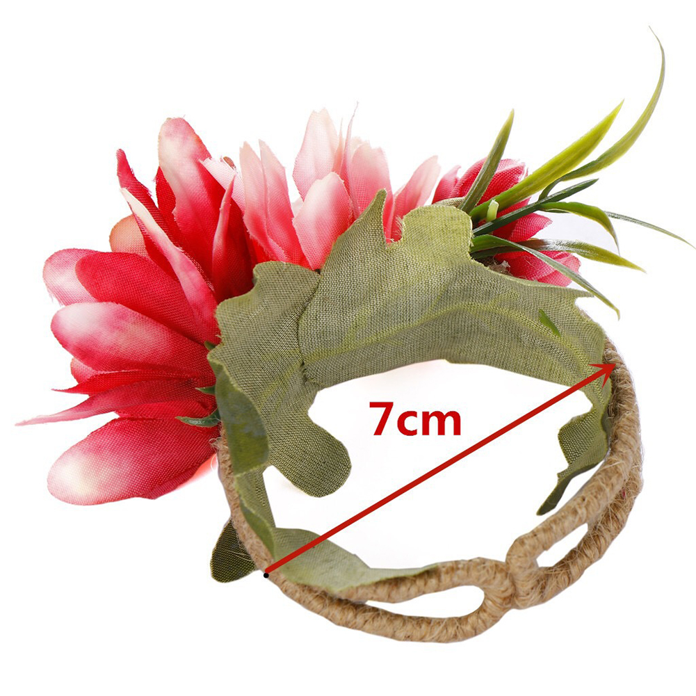 Bridal Weaving Wrist Flower Stretch Opening  Bracelet Wristband Bridesmaid Wrist Corsage For Wedding Prom Hand Flowers Decor