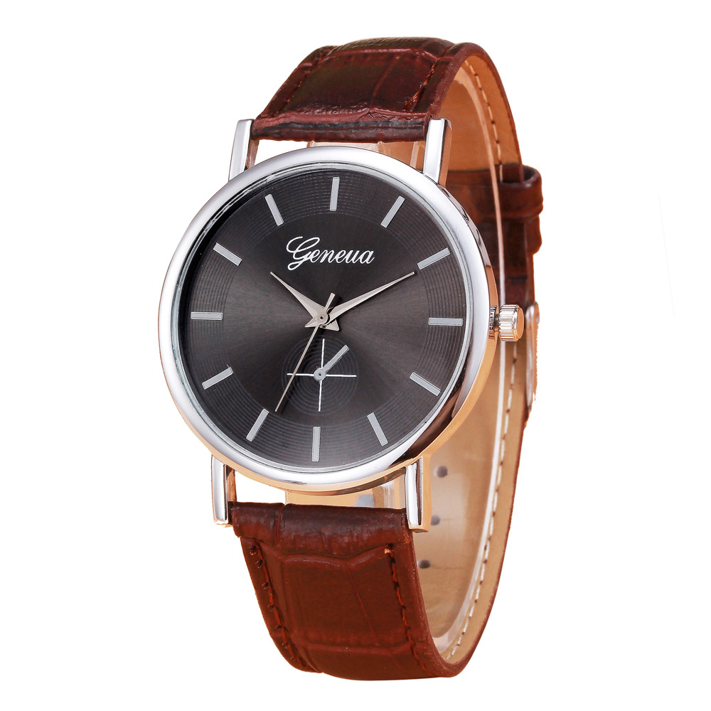 Mens Sports Watches Brand New Luxury Watch Retro Design Casual Clock Leather Band Analog Alloy Quartz Wrist Watch 2016 Hot Sale hot new fashion quartz watch women gift rainbow design leather band analog alloy quartz wrist watch clock relogio feminino