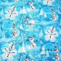 Novo 105 * 50cm1pc neve olaf 100% algodão material de tecido de costura quilting tecidos diy tecido patchwork têxtil para a roupa do bebê brinquedos