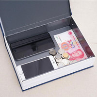 Large Cipher Security Simulation Dictionary Book Case Home Cash Money Jewelry Locker Secret Safe Storage Box