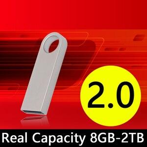 1 pc/lote capacidade real 8gb-2tb metal usb flash drive 512gb pendrive 64gb disco na chave mini usb memória vara caneta drive presente 2.0