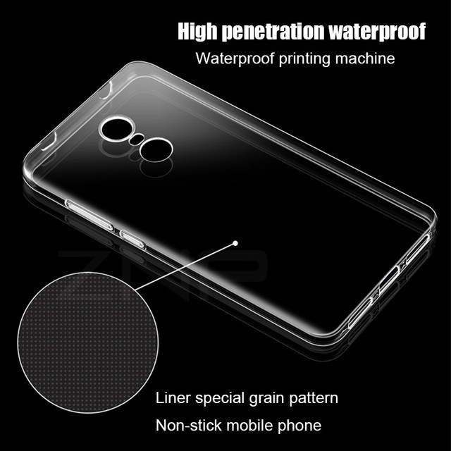 ZNP Ultra Thin Soft transparent TPU Case For Xiaomi Redmi Note 4 4X Pro silicone Case Cover For Redmi Note 4X Phone Shell Coque