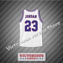 fdc95efbc4e Minanser Michael Jordan 23 Space Jam Tune squad blanco Baloncesto Jersey  hombres