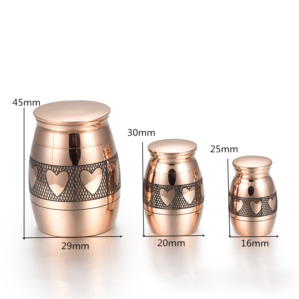 US $7 38 18% OFF|KLH014 Love Heart Small Cremation Urns for Human Ashes  Keepsake Urns Set 3 Miniature Memorial Funeral Urns for Sharing Ashes-in