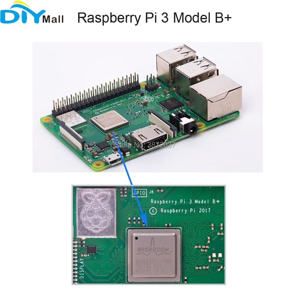 Original Raspberry Pi 3 Model B+ RPi 3B Plus Mother Board 1.4GHz 64Bit Processor Quad-Core CPU WIFI Bluetooth raspberry pi 3 model b 1gb ram quad core 1 2ghz 64bit cpu wifi