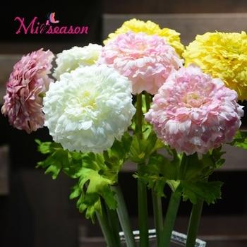 Miiseason Yeni Avrupa Tarzı Tek Orta Krizantem çiçekleri Yapay