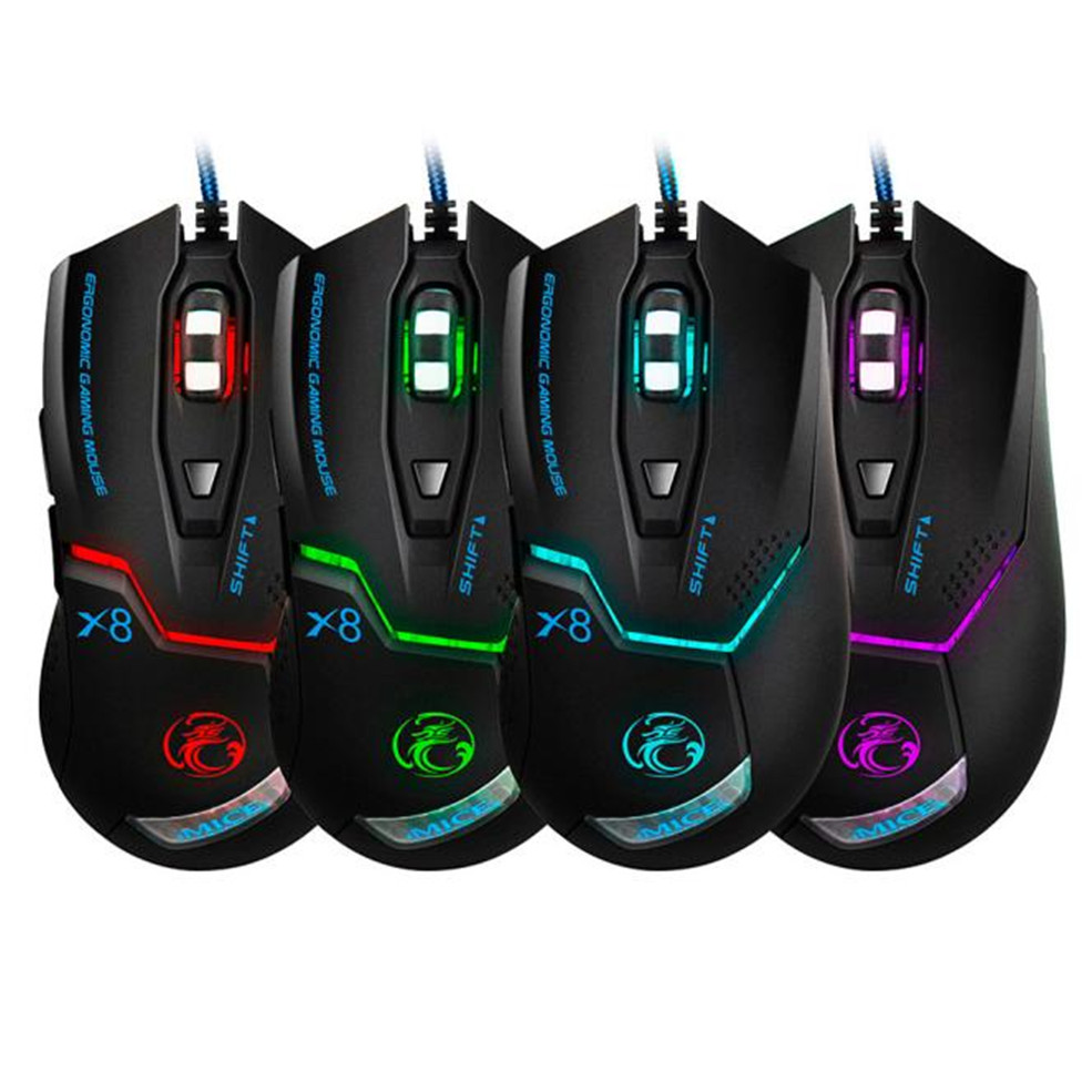 3000 DPI LED Optical 6D USB Wired Gaming Mouse Gamer For PC Laptop Computer aula sacred beetle programming 6d wired usb 1600dpi optical mouse