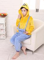 Freepp Unisex Flannel Adult Minion Pajamas Pyjamas Women Onesie Men Costume Cosplay Animal Onesie Cartoon Sleepwear