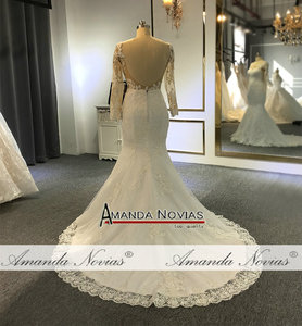 Image 5 - Vestido de noiva simples laço sereia vestido de casamento 2019