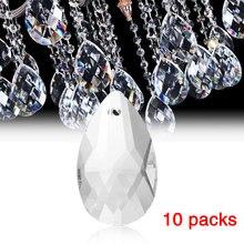10Pcs/Pack Clear Art Glass Drops Chandelier Pendant Light Lamp Part Hanging Prisms DIY Accessories Crystal Parts