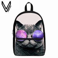 New Designer Animal Canvas Backpacks Cute Cat Owl Alpaca Shoulder Bag Casual Children School Laptop Backpack