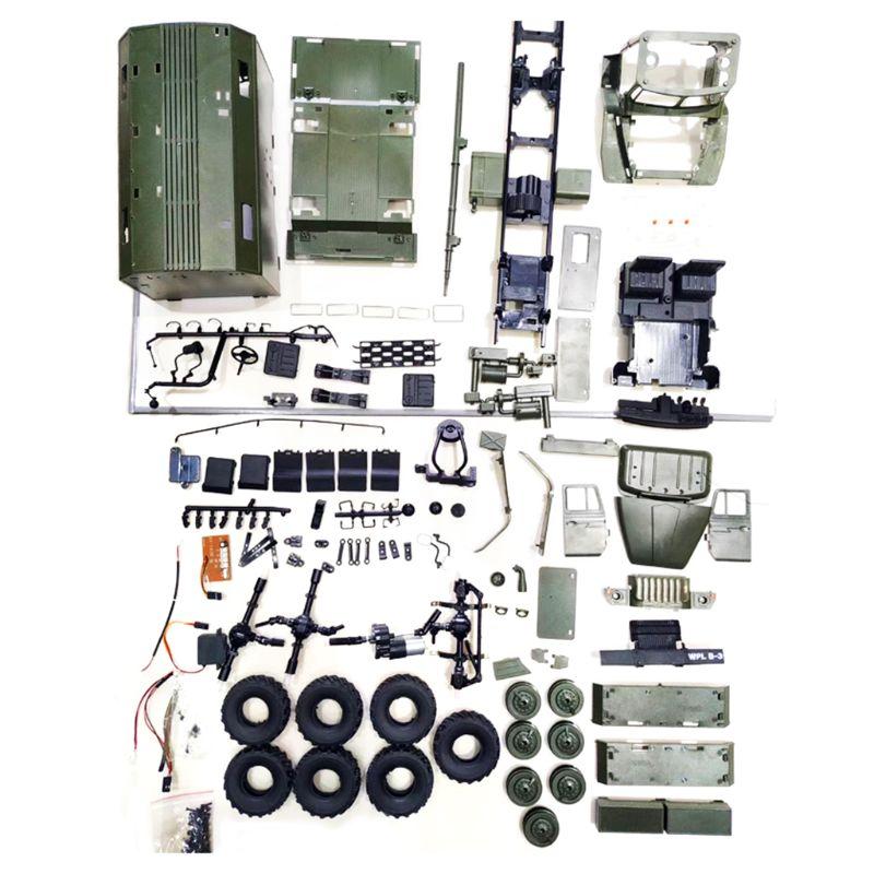 WPL B36 1:16 RC voiture 2.4G 6WD camion militaire roche chenille commande Communication véhicule Kit bricolage jouets pour garçons