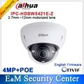 Original Dahua DH-IPC-HDBW5421E-Z 4MP POE HD 2.7mm ~12mm motorized lens 4MP Network Vandal-proof IR Dome Camera IPC-HDBW5421E-Z