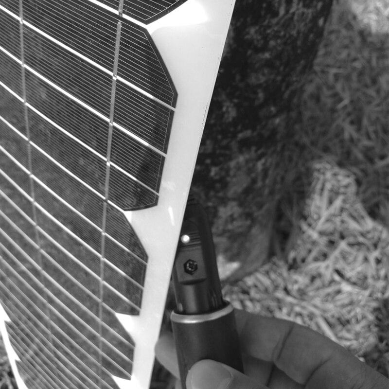 Voiture Flexible panneau solaire 18 v 20 w 12 v batterie portable chargeur solaire Photovatic Panneau 100 w Solaire Usb Système Solaire Accueil