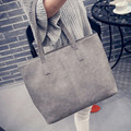 Fashion Women Bag Totes Women PU Leather Handbag Brief Shoulder Bags Large capacity luxury handbags women Gray Black bags,DJ7083