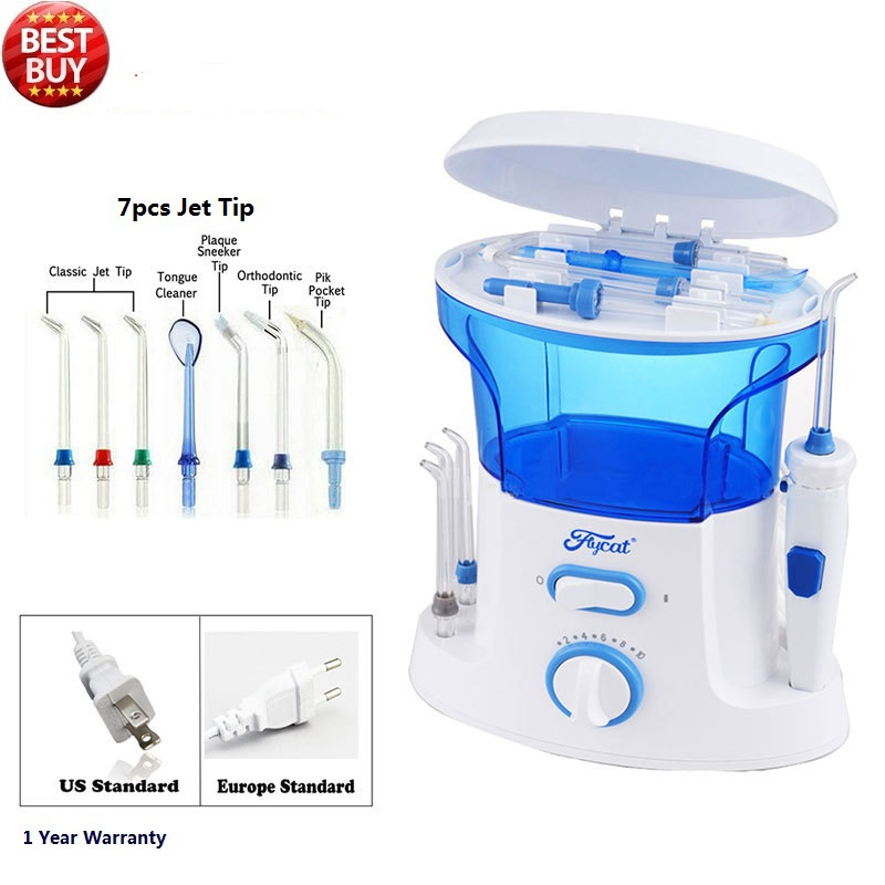 ФОТО Dental Water Flosser + Quality Oral Irrigator with 7Pcs jet tip & 600ML Water Tank for dental hygiene & tooth care