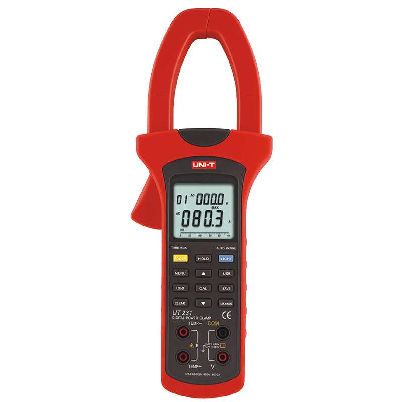 UNI T UT231 True RMS Digital Clamp Meters Single phase 2 wire 600KW Power Clamp Meter