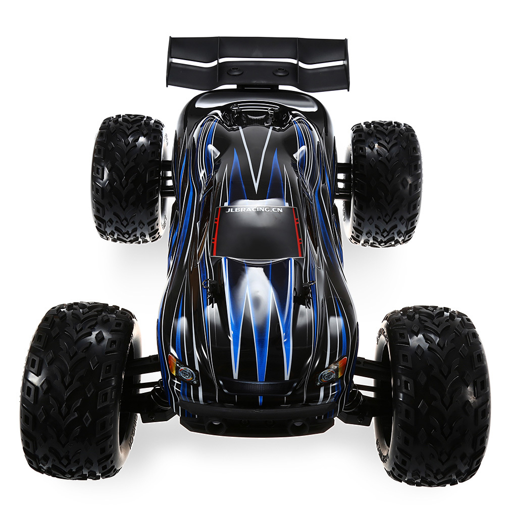 JLB Racing 21101 1:10 4WD RC Brushless Off Road Truck RTR 80 100km/H 3670 2500KV Brushless Motor Wheelie Function RC Cars Toy