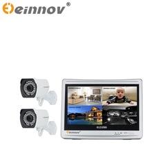 EINNoV Surveillance 1CH/2CH 1080P security video Outdoor CCTV AHD Camera Kit 12 inch LCD Screen AHD DVR cctv camera system