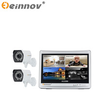 EINNoV Surveillance 1CH 2CH 1080P Security Video Outdoor CCTV AHD Camera Kit 12 Inch LCD Screen