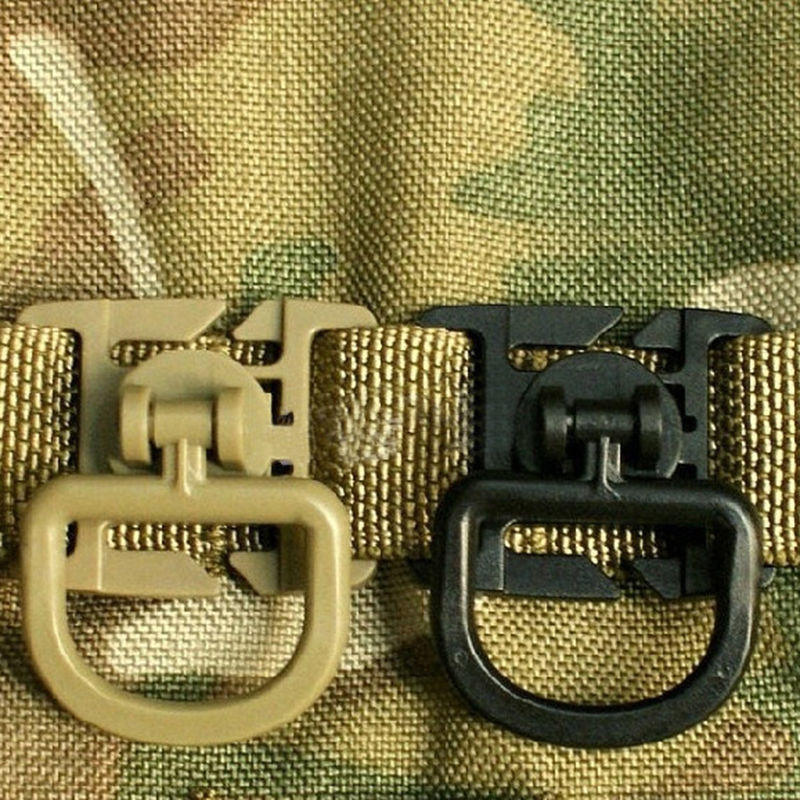 Green Plastic D Ring Buckles Bags DIY Accessory D-ring Webbing Bottle Buckle