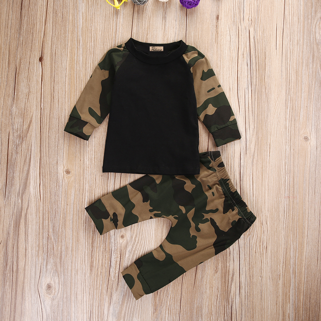 0-24M Babies Cool Camouflage Newborn Baby Boys Kids Long Sleeve T-shirt Top+Long Pants Outfit Clothes Clothing Set прогулочные коляски cool baby kdd 6699gb t