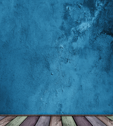8x12ft Steel Blue Grunge Distressed Texture Wall Color