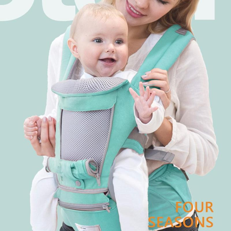 Porte-bébé respirant sac à dos Portable porte-bébé bébé kangourou Hipseat porte-bébé écharpe Wrap de haute qualité