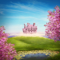 Thin Fabric Cloth Printed Photography Background Children S Castle Backdrop 5ft X 7ft D 754