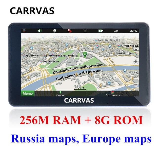 Carrvas  Inch Hd Car Gps Navigation Fm Gbm Ddrmhz  Map
