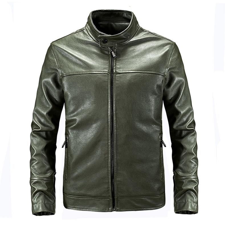 TACVASEN Men Autumn Tactical Leather Jacket Military Bomber Jacket Slim US Army Pilot Jacket Casual Motorcycle PU Leather Coat
