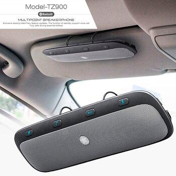 10M Wireless Bluetooth Handsfree Car Kit Speakerphone Audio Music Speaker for iPhone Samsung Car Usb Bluetooth Hands free цена 2017