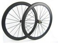 700C Full Carbon Road Bike Wheels 700C 50mm 20 Front 24 Rear Spokes Black Novaetc 271