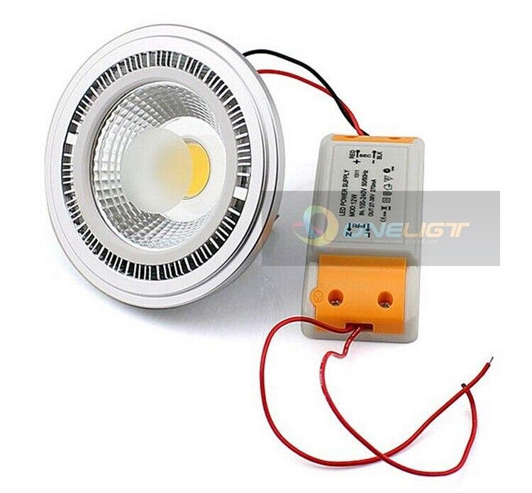 dimmable cob 15w g53 ar111 led bulb light ac110220v