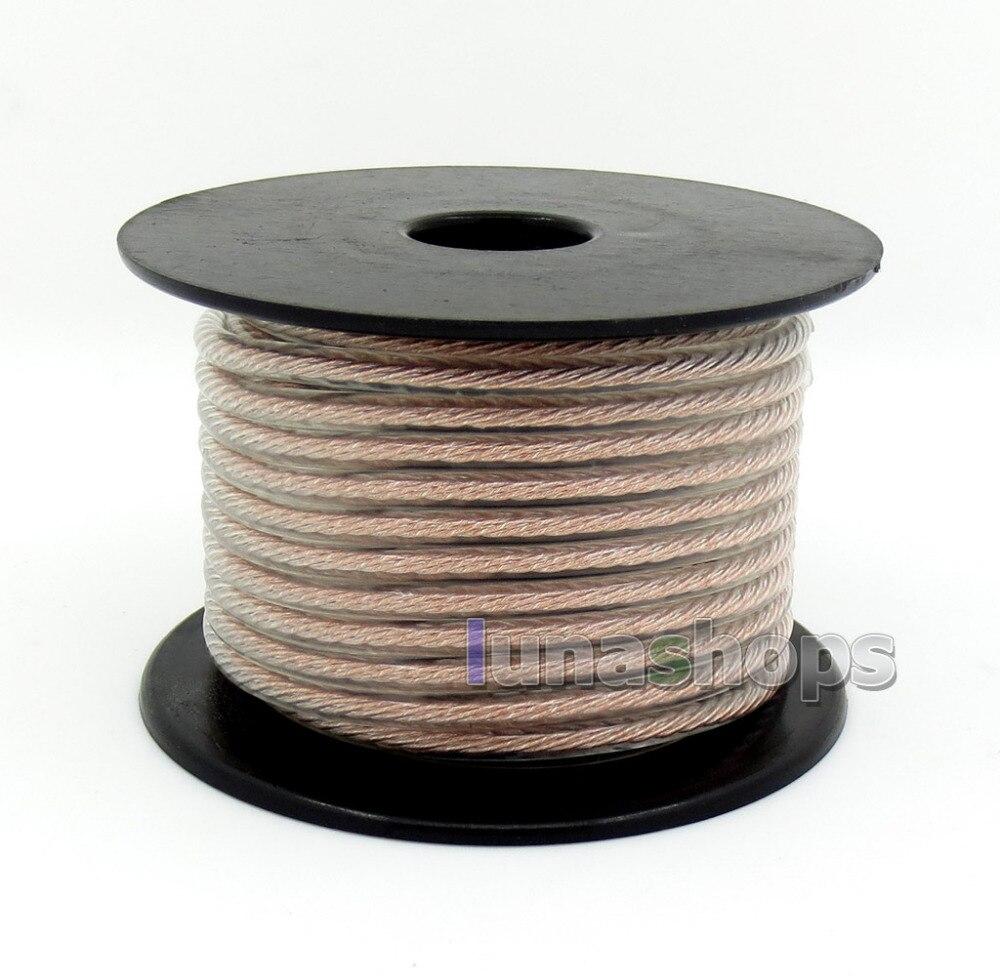 100 м объемный OCC + посеребренный смешанный объемный 4 ядра 68 шт. одиночный провод кабель для наушников DIY литцендратный кабель LN005918