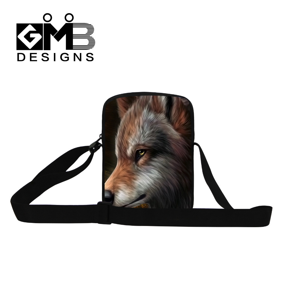 wolf men messenger bag