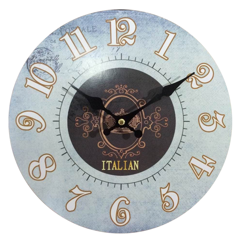 Free Shipping Wood Wall Clocks Italy Design Antiqued Quartz MDF ...
