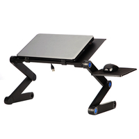 Portable 360 Folding Laptop Stand Desk Computer Table 2 Holes Cooling Laptop Desk Holder with Mouse Pad Notebook Table for Bed