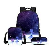 Fashion Designed Girls Students School Backpack Set Cartoon Steven Universe Printing Boys Shoulder Bagpack Children Kids Bookbag