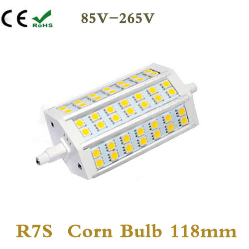 1x r7s led strahler 78mm rund 6 watt dimmbar 32x smds for R7s led 78mm 20w