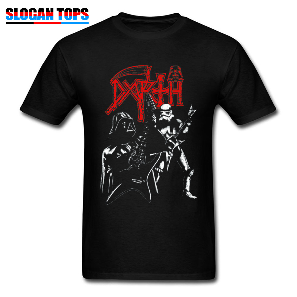 Star Wars T-shirt DARTH METAL Tees Men Tshirt Queen Darth Vader Electric Guitar Player Cotton T Shirts Heavy Metal Punk Clothing
