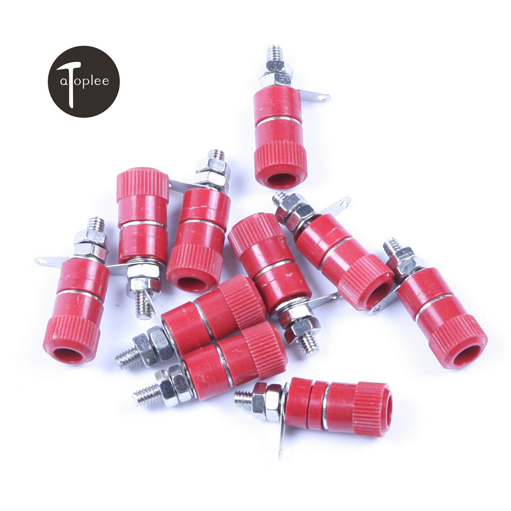 High Quality 6pcs/set Alloy 4mm Diameter Red Blue Black Kit Binding Post Terminal For All Kinds Of Lamps Model Toys Field