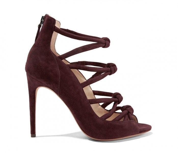 Hot selling peep toe high heel sandal for woman cutouts thin heels font b shoes b