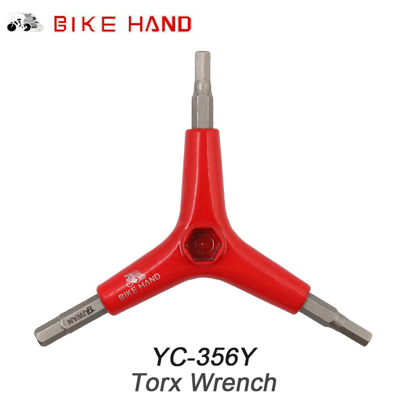 BIKE HAND Bicycle Repair Tools 4 5 6 mm 3 Way Hex Key Wrench Spanner Cycling MTB Mountain Bike Repair Tool For Bicycle Y Shaped in Bicycle Repair Tools from Sports Entertainment