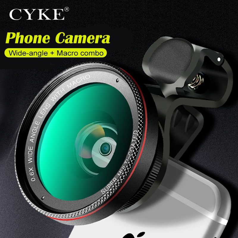 CYKE Optic Lenses HD 0.6X Wide Angle 15X Macro Lente Cell Phone Camera Lens Kit for iPhone 8 XR 7 Samsung HTC More Landscape