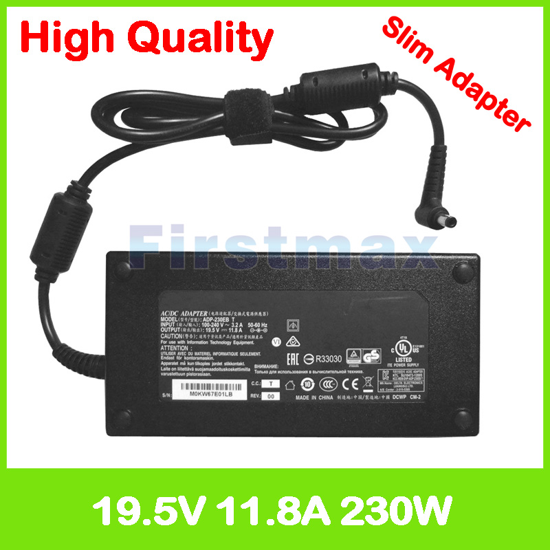 19.5V 11.8A ac adapter power laptop charger for Clevo N950KP6 N957KP6 P650HS-G P650RS6 P651HS P651RS-G P670RS P670RS-G PA70ES-G