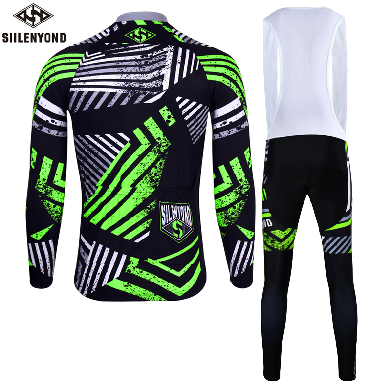 Siilenyond 2019 Winter Thermal Pro Cycling Jersey Sets Keep Warm MTB Bicycle Clothing Racing Bike Cycling Clothes Suit For Men 2